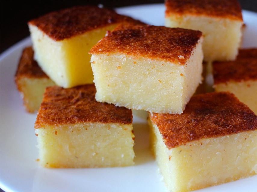 Cassava Cake Gateau Manioc Pudding Recipe