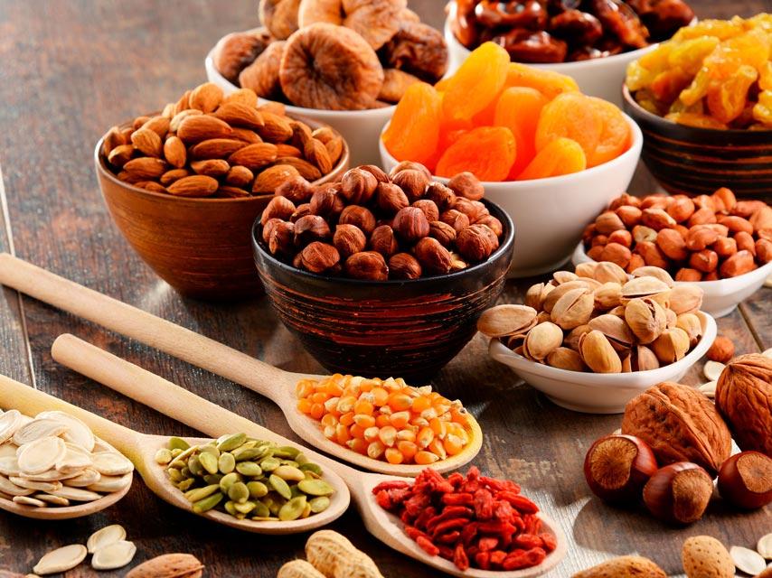 Les noix et les graines