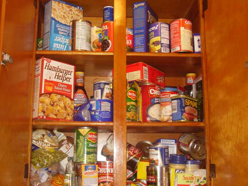 clean out pantry
