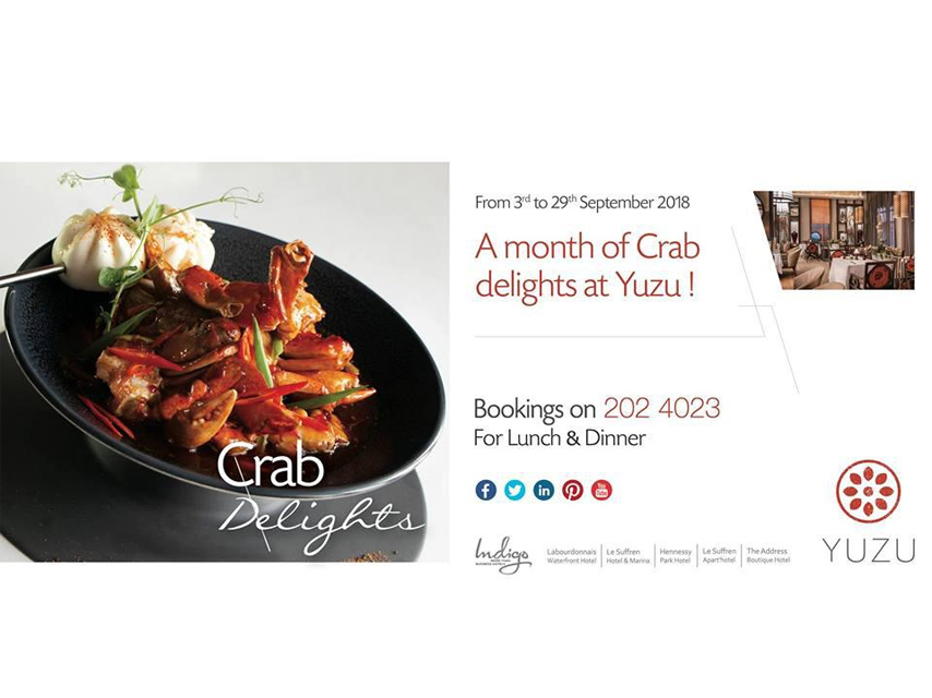 Crab Delights at Labourdonnais Waterfront Hotel