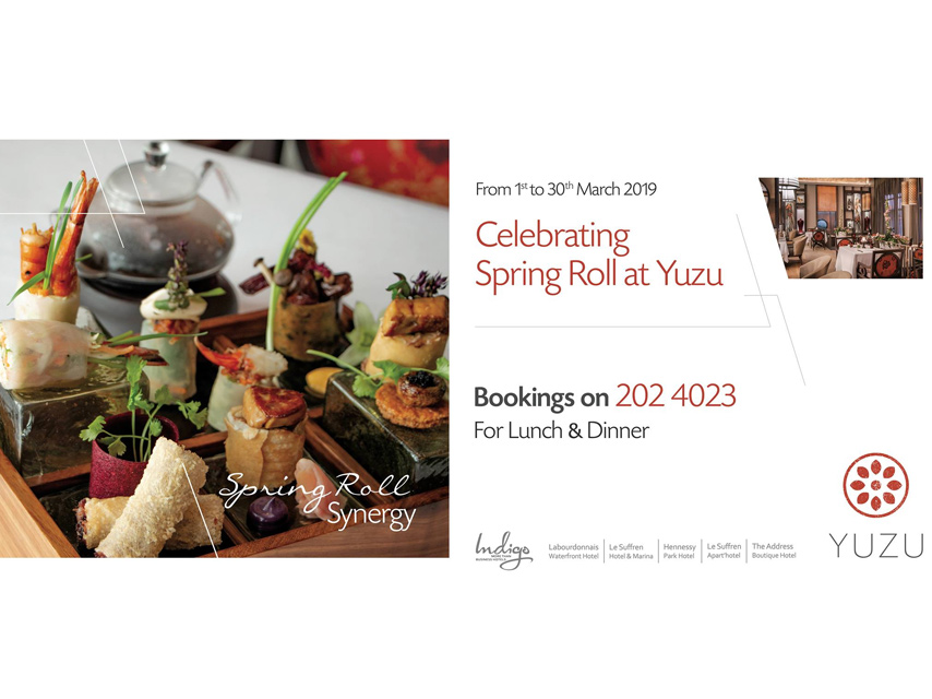 Spring Roll Synergy at Labourdonnais Waterfront Hotel