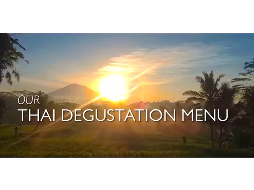 Our Thai Degustation Menu