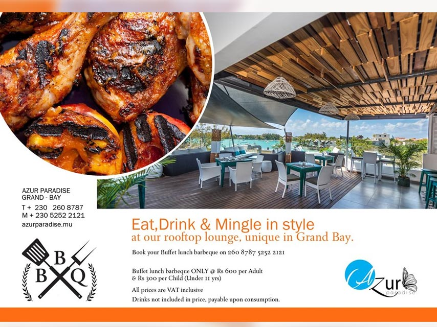 Eat,Drink & Mingle in style BBQ buffet!