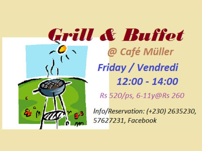 Grill and Buffet at Café Müller Mauritius